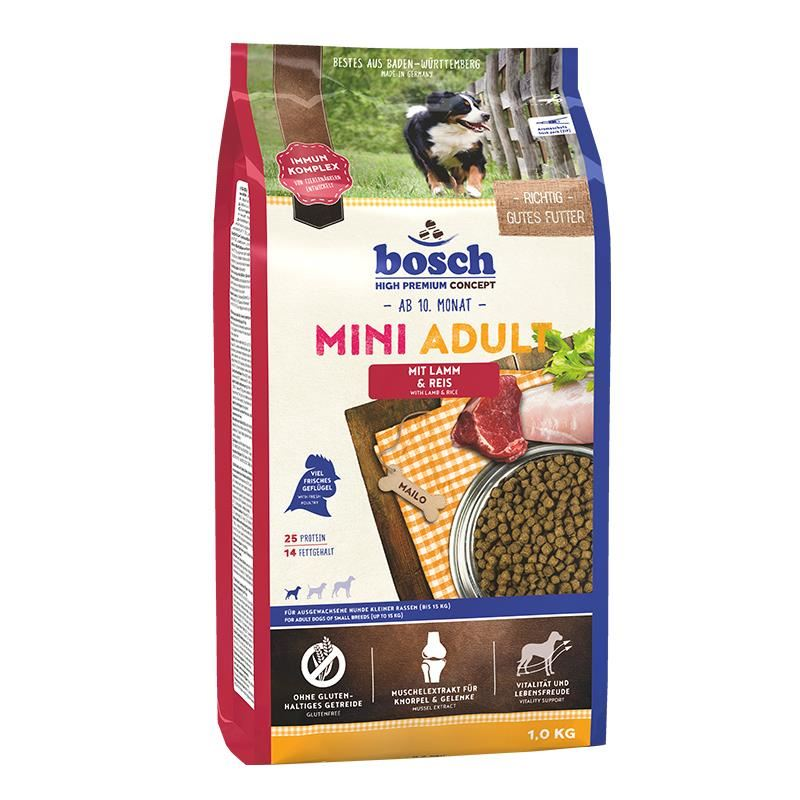 Bosch Mini Adult Lamb Kuzu Etli Küçük Irk Köpek Maması 1 Kg