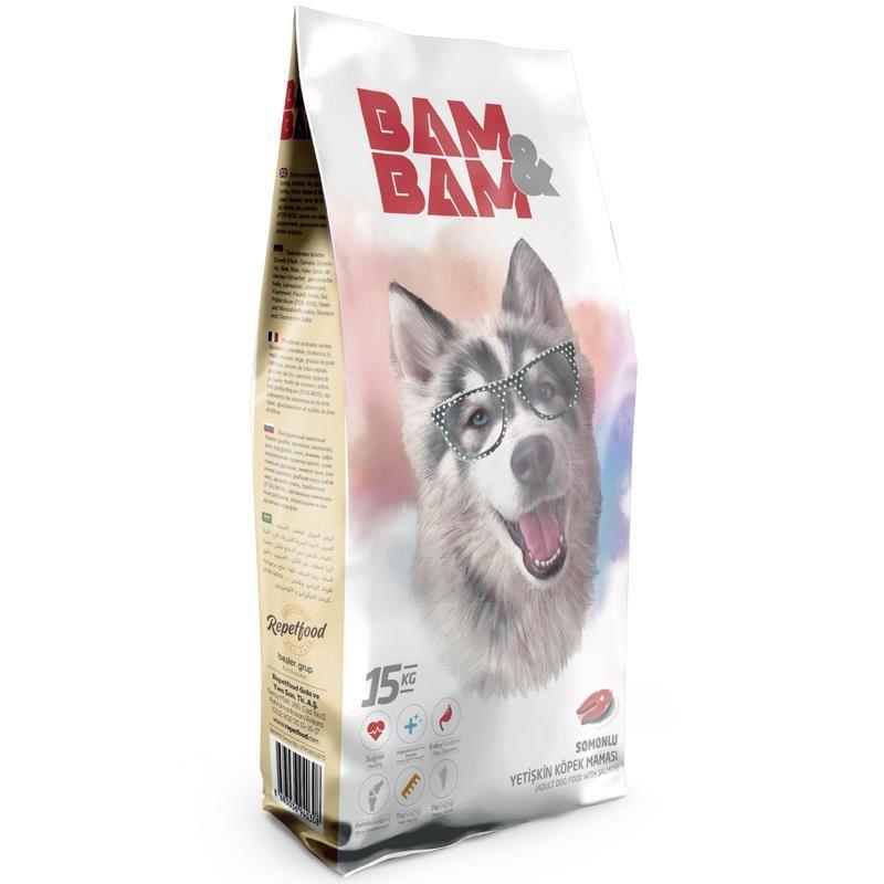 Bam Bam Somonlu Yetişkin Köpek Maması 15 Kg