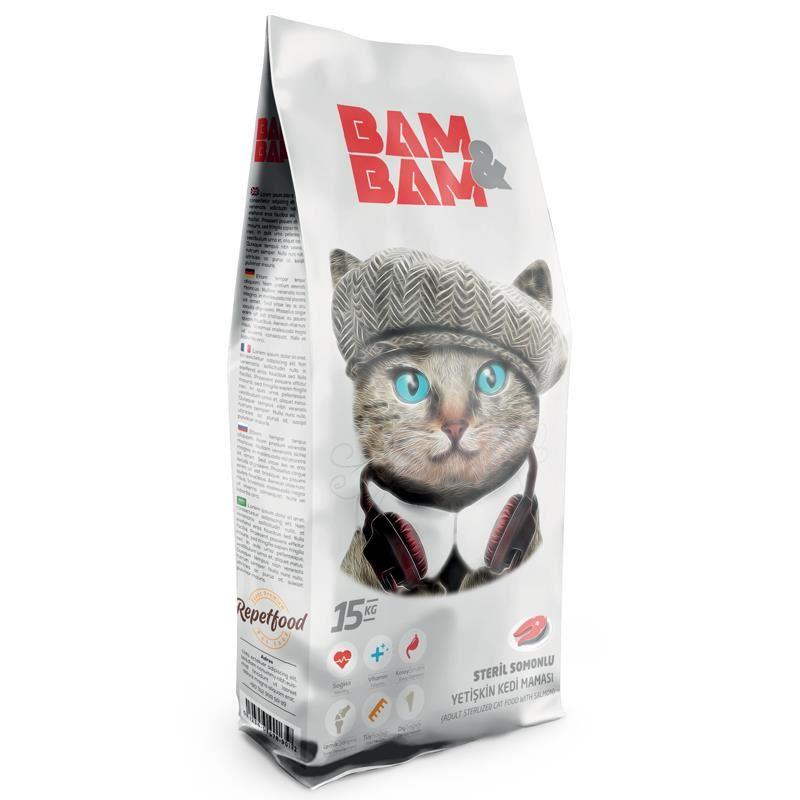 Bam Bam Somonlu Kısır Kedi Maması 15 Kg