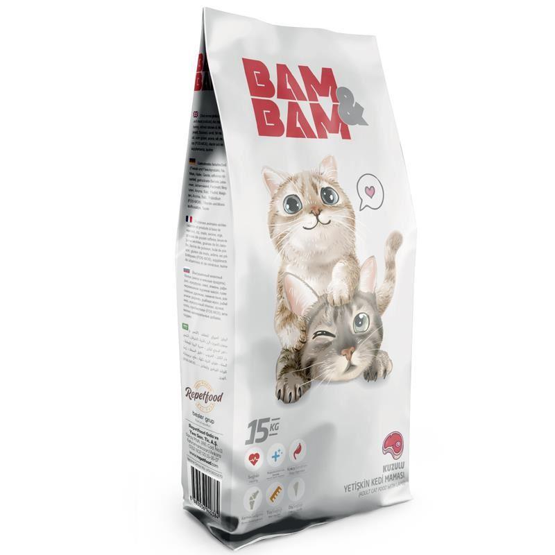 Bam Bam Kuzulu Yetişkin Kedi Maması 15 Kg