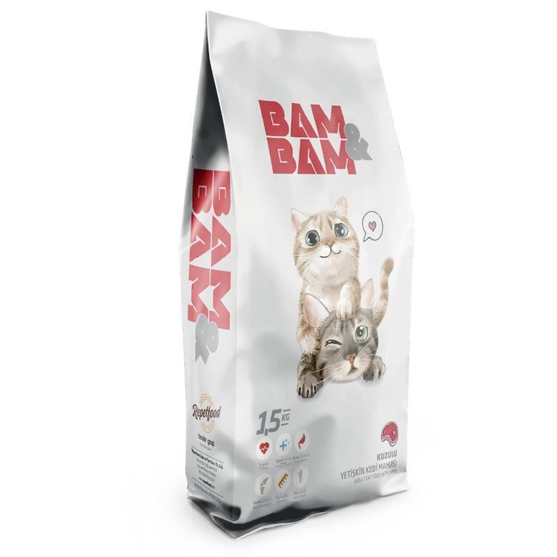 Bam Bam Kuzulu Yetişkin Kedi Maması 1,5 Kg