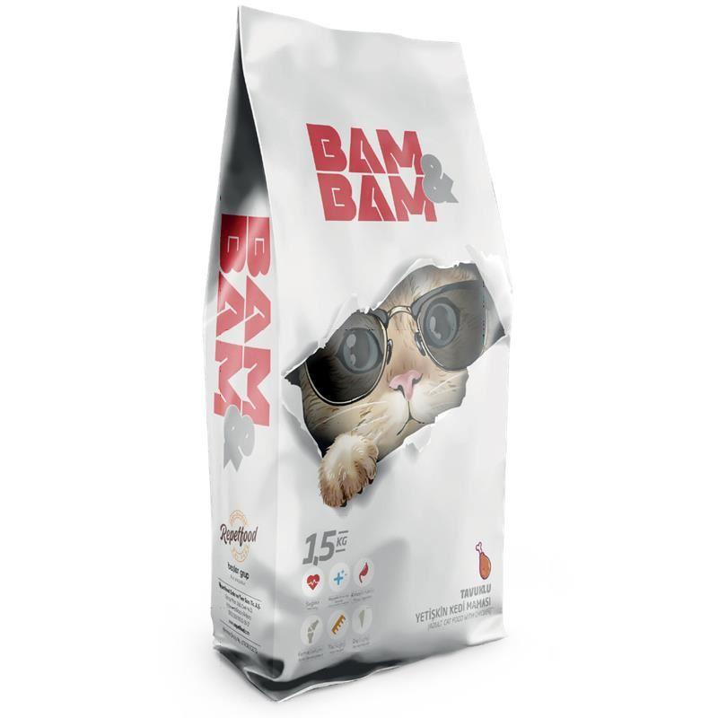 Bam Bam Tavuklu Yetişkin Kedi Maması 1,5 Kg