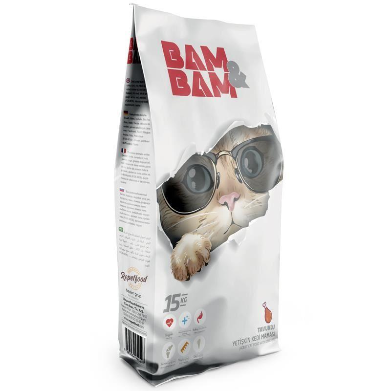 Bam Bam Tavuklu Yetişkin Kedi Maması 15 Kg