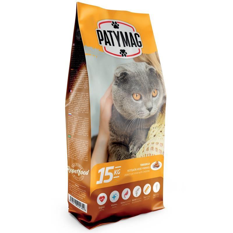 PatyMag Tavuklu Yetişkin Kedi Maması 15 Kg
