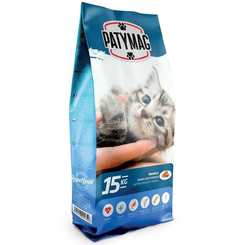 PatyMag Tavuklu Yavru Kedi Maması 15 Kg