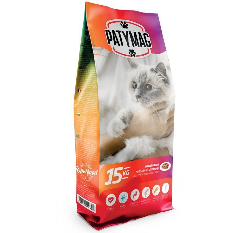 PatyMag Gurme Renkli Taneli Yetişkin Kedi Maması 15 Kg