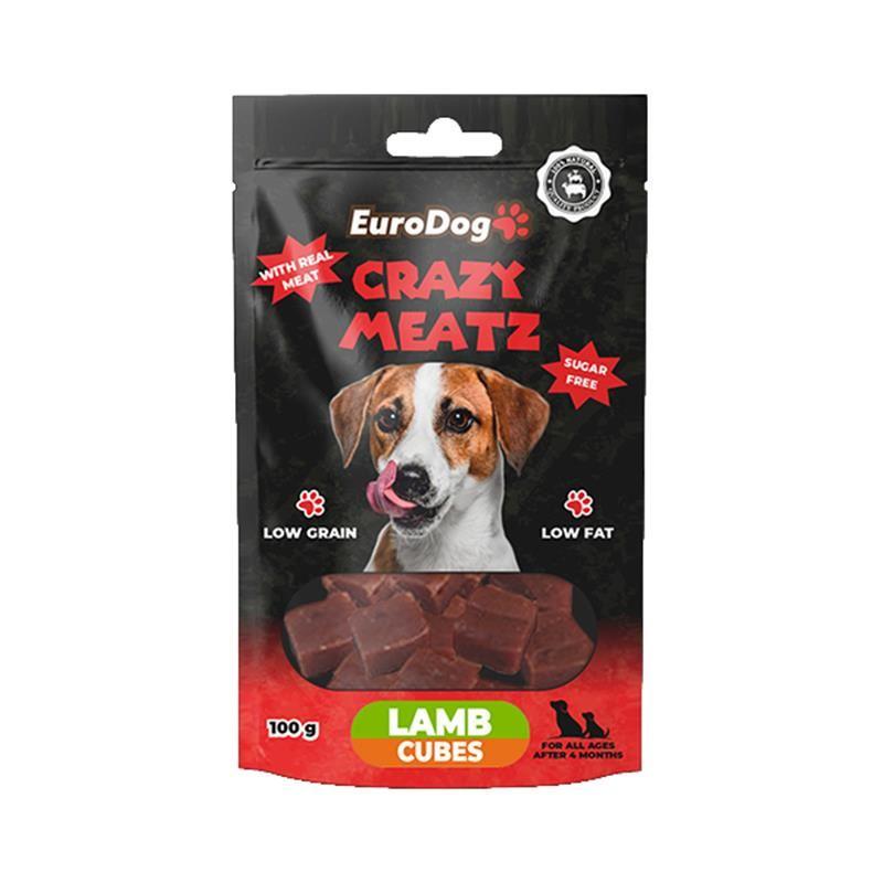 EuroDog Lamb Cubes Köpek Ödülü 100 Gr