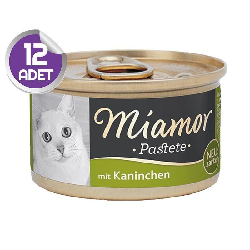 Miamor Pastete Tavşanlı Yetişkin Kedi Konservesi 85gr x12