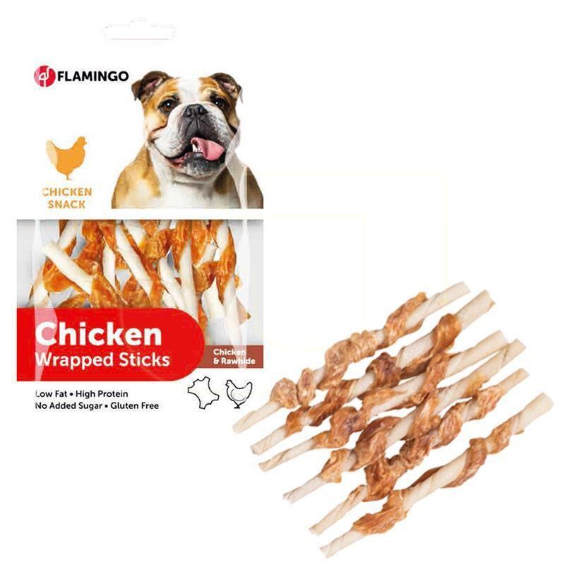 Flamingo Chicken Tavuklu Burgu Çubuk Köpek Ödülü 65 Gr