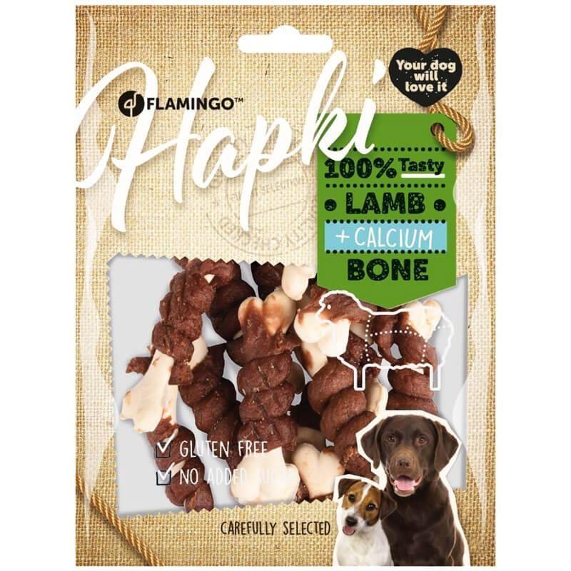 Flamingo Hapki Köpek Ödülü Kuzu Etli ve Kalsiyumlu Kemik 150 Gr