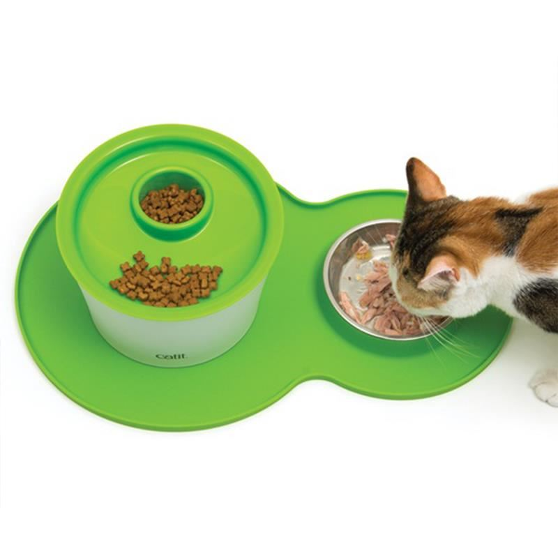 Catit Kedi Suluk ve Mamalık Altlığı Medium Boy Yeşil
