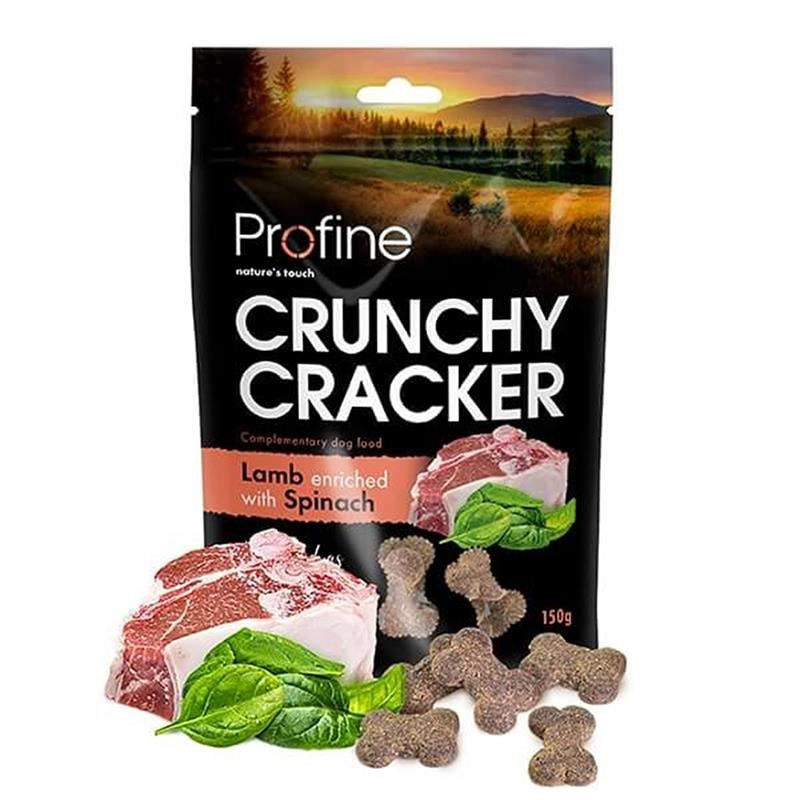 Profine Crunchy Cracker Kuzulu Ispanaklı Köpek Krakeri 150 Gr