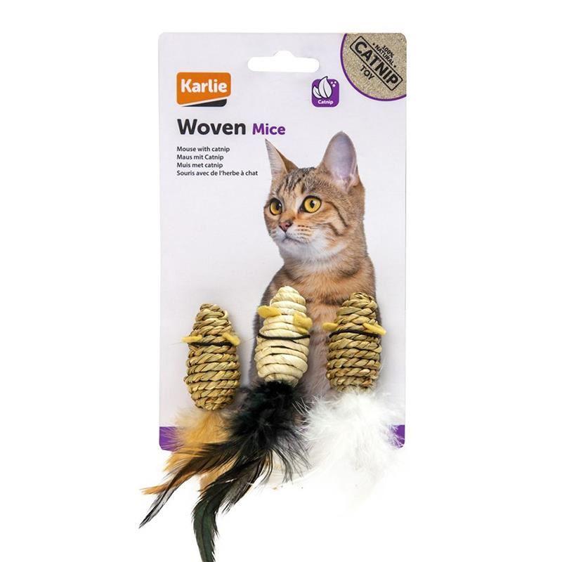 Karlıe Doğal Kedi Oyuncağı 3lü Fare Seti 5 Cm