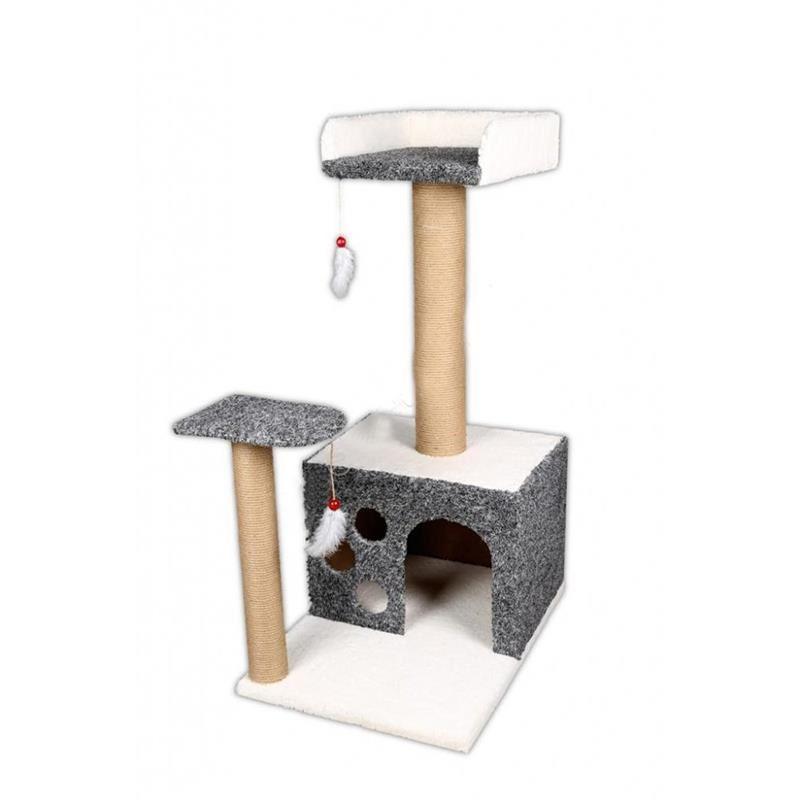 EwoX Kedi Tırmalama ve Kedi Evi Gri