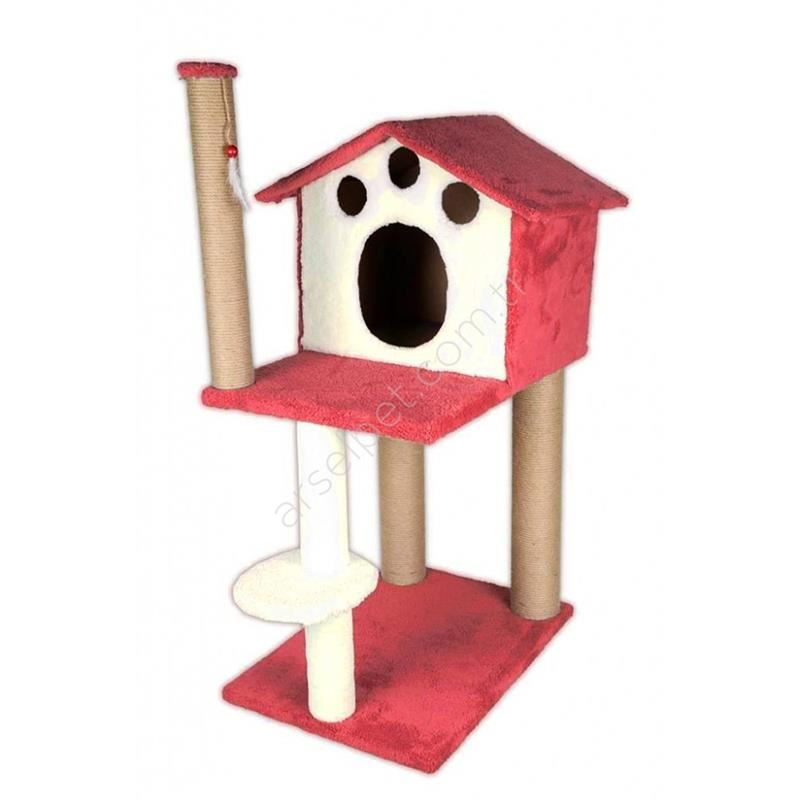 EwoX Kedi Tırmalama ve Kedi Evi Pembe