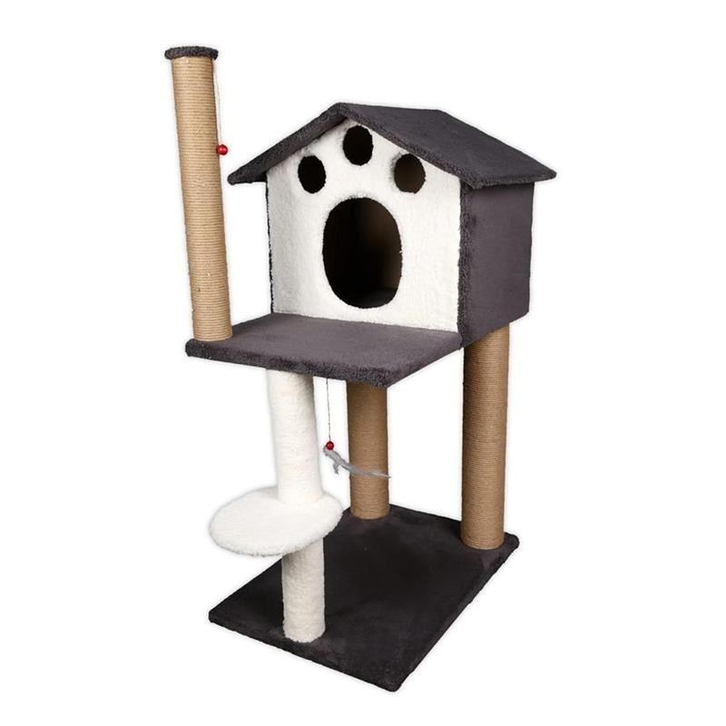 EwoX Kedi Tırmalama ve Kedi Evi Antrasit Gri