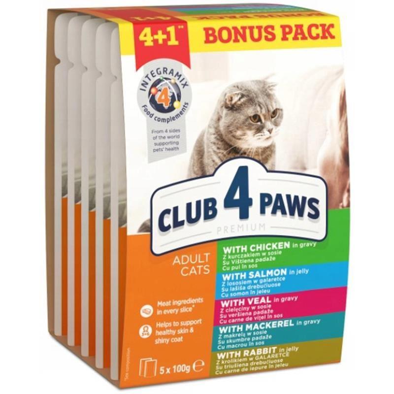 Club4Paws Premium 4+1 Pouch Kedi Konservesi