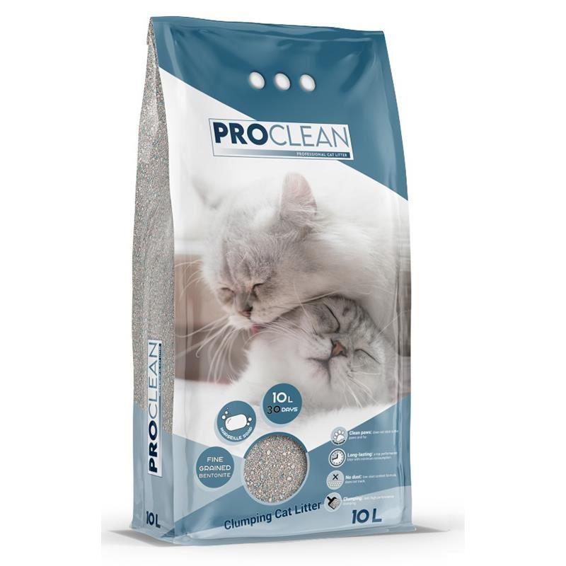 ProClean Marsilya Sabun Kokulu Kalın Taneli Topaklanan Kedi Kumu 10 Lt