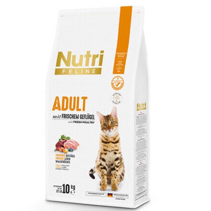 Nutri Feline Kümes Hayvanlı Düşük Tahıllı Yetişkin Kedi Maması 10 Kg
