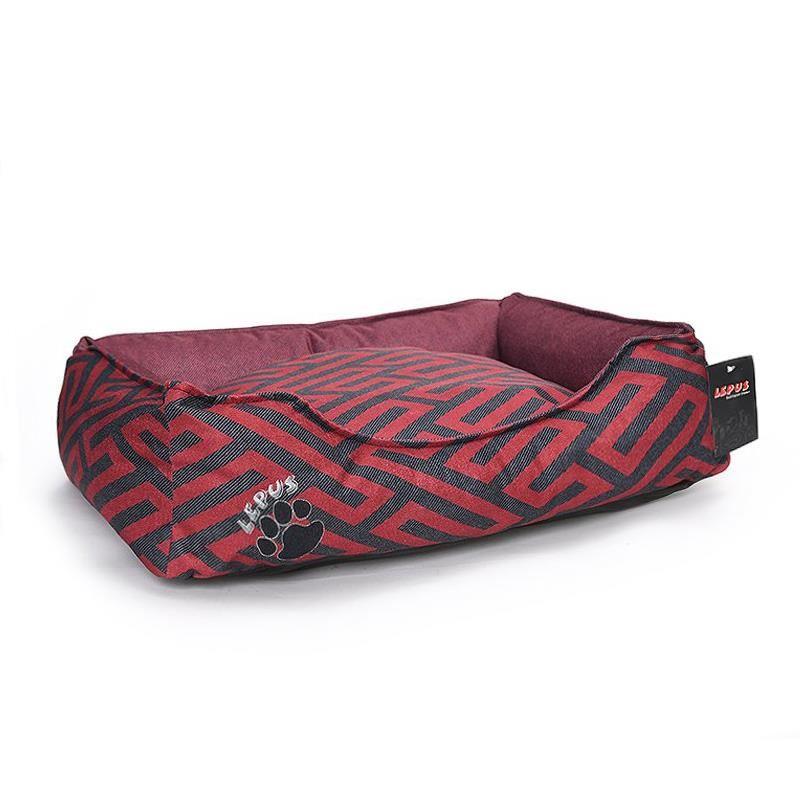 Lepus New Premium Köpek Yatağı Medium Bordo