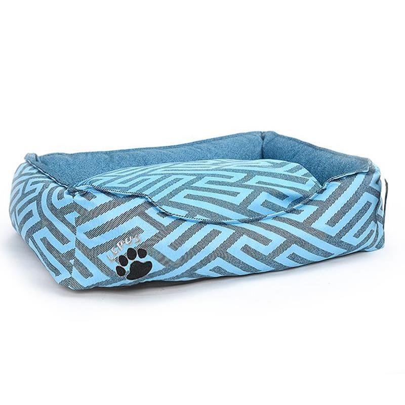 Lepus New Premium Köpek Yatağı Medium Mavi