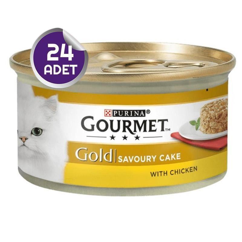 Gourmet Gold Savoury Tavuk Etli Yetişkin Kedi Konservesi 85 Gr x24