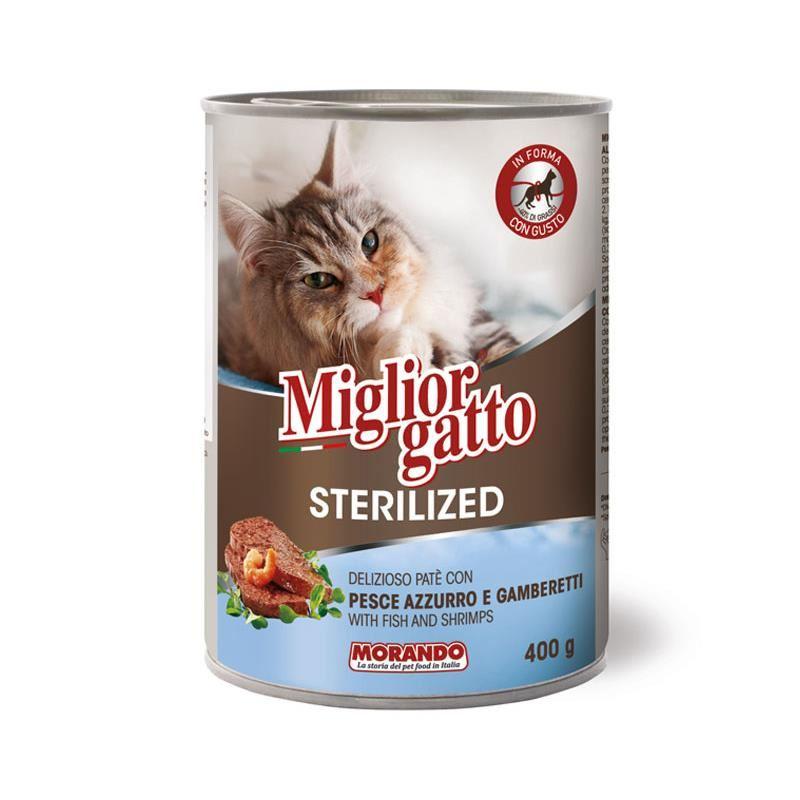 Miglior Gatto Pate Balıklı Karidesli Kısırlaştırılmış Kedi Konservesi 400 Gr