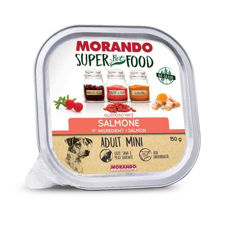 Morando Super Food Mini Tahılsız Somonlu Ezme Köpek Konservesi 150 Gr
