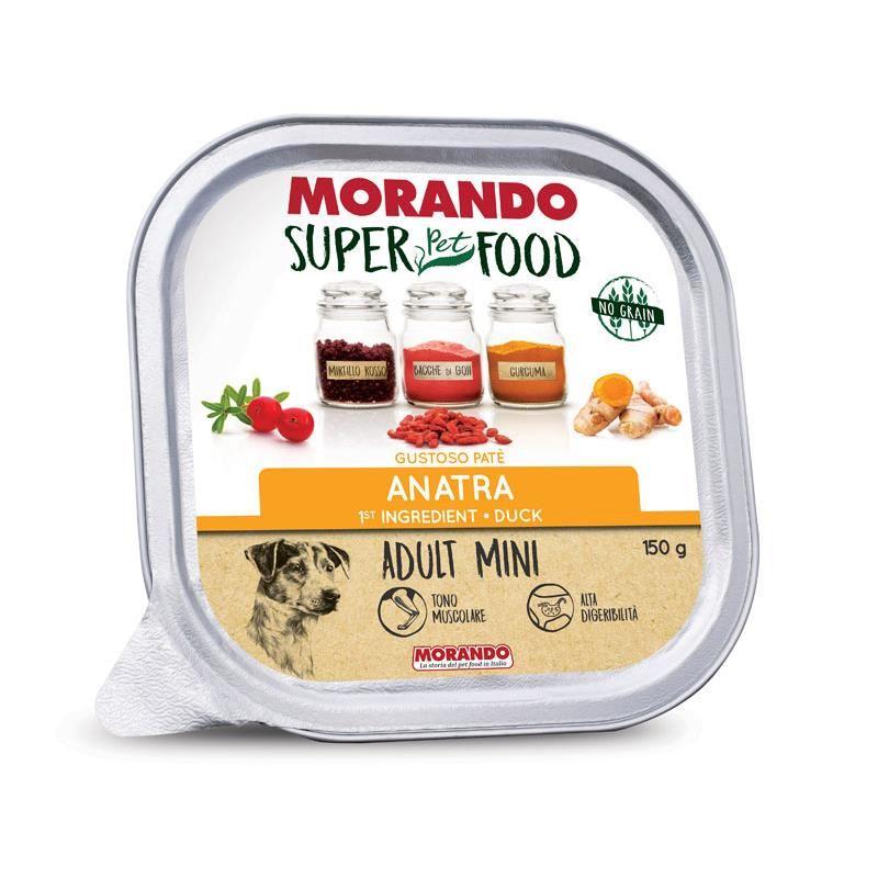 Morando Super Food Mini Tahılsız Ördekli Ezme Köpek Konservesi 150 Gr
