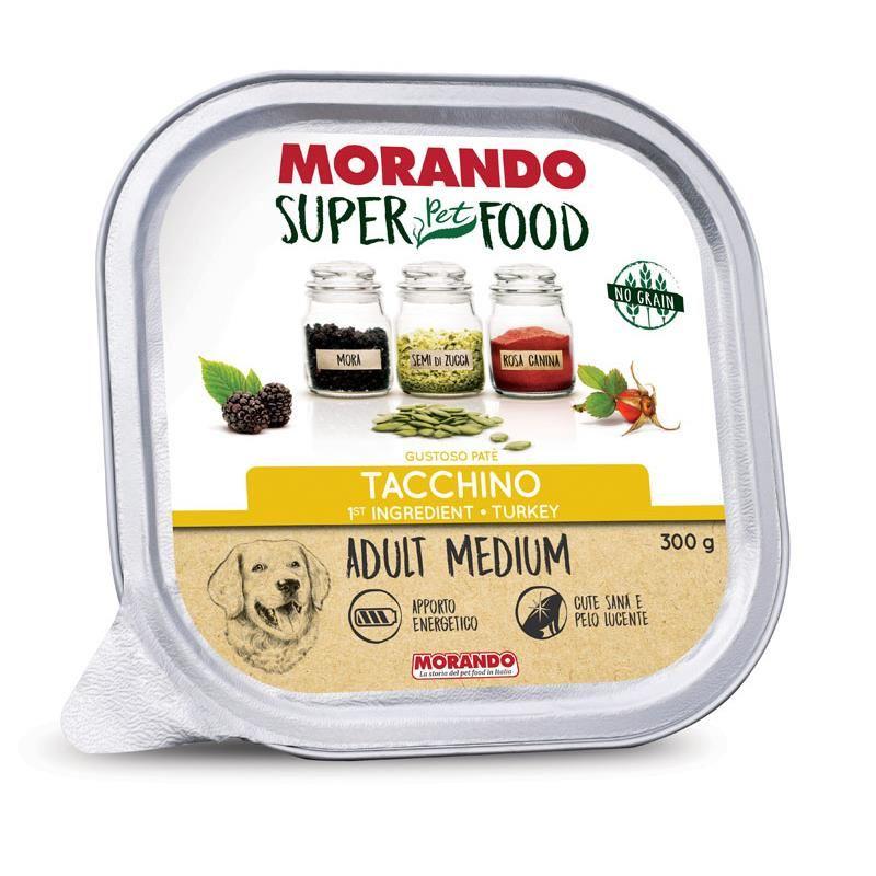 Morando Super Food Medium Tahılsız Hindili Ezme  Köpek Konservesi 300 Gr