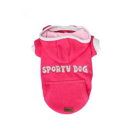 Lepus Küçük Irk Köpek Kapşonlu Sweet Elbise Fuşya XLarge