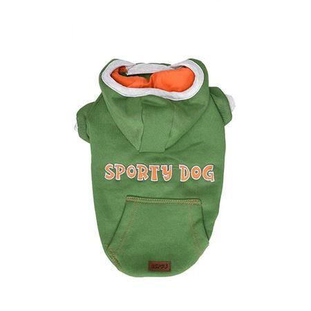 Lepus Küçük Irk Köpek Kapşonlu Sweet Elbise Yeşil 2XLarge