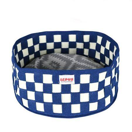 Lepus Örgü Köpek Yatağı Mavi