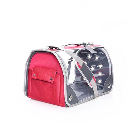 Lepus Şeffaf Fly Bag Kedi Köpek Taşıma Çantası Pembe Large