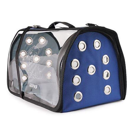 Lepus Şeffaf Fly Bag Kedi Köpek Taşıma Çantası Mavi Large