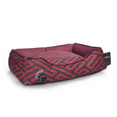 Lepus New Premium Köpek Yatağı Large Bordo