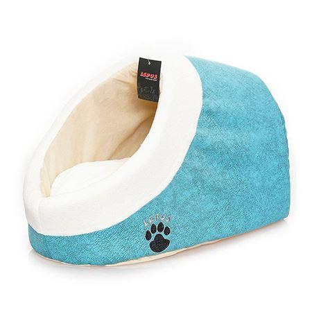 Lepus Alaska Kedi Köpek Yatağı Mavi